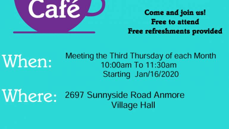 Dementia Friendly Cafe. Free to attend.