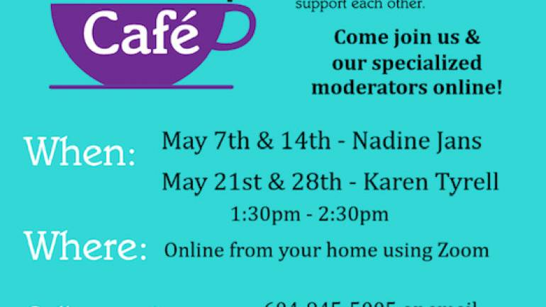 Dementia Friendly Cafe. Join us online.